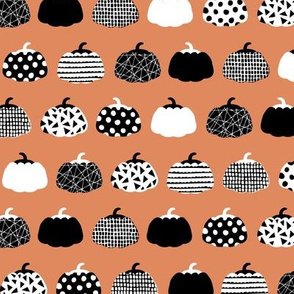 Little pumpkin patch picking garden textured veggies orange black and white