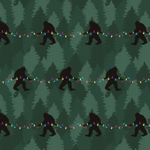 Bigfoot Christmas Tree String Lights