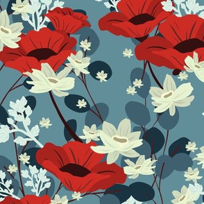 Gardenia Floral - Blue