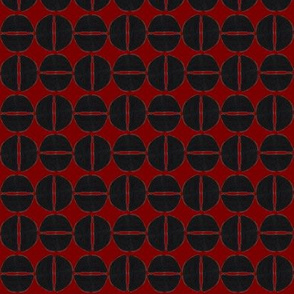 19-13v Wine Red Black Cranberry Abstract Wine Dots