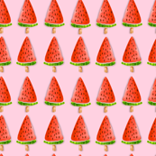 Watermelon Trees|Watercolor Pink |Foodie Humor| |Renee Davis
