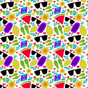 Summer Vibes Seamless Pattern