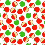 Tossed Red and Green Apples