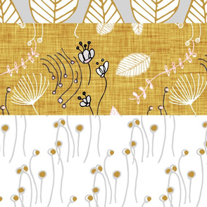 winter floral cheater quilt template horizontal