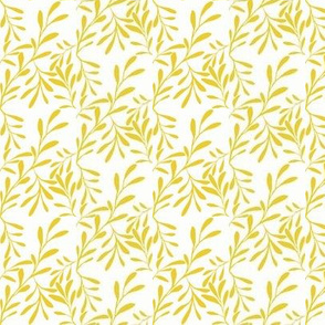 A Drift of Sunny Lemon Leaves on Icy Cream - Small Scale