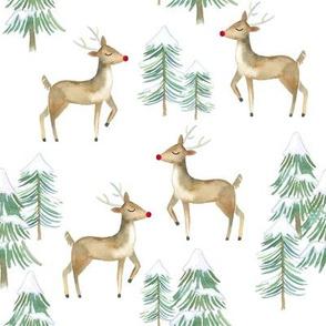 Woodland Reindeer // White