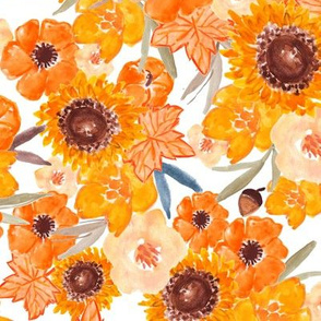 Sunflowers // White