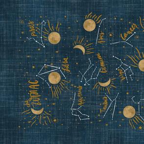 Moon Sparkle Zodiac Teatowel
