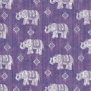 Sharavathi Elephant - Amethyst - Large Scale