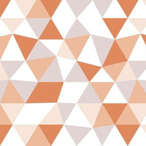 Modern geometric triangle pattern pumpkin orange woodland palette