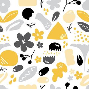 Memphis Abstract - Yellow Black White