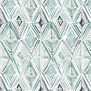 Boho Diamond-greens S