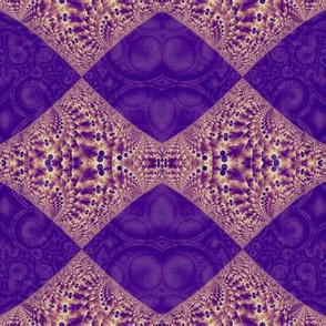 Intersection of abstract purple fractal forms