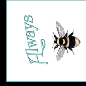 Always Bee Kind Coral and Teal with Lettering and Checks