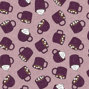 hot cocoa - hot chocolate - plum - LAD19