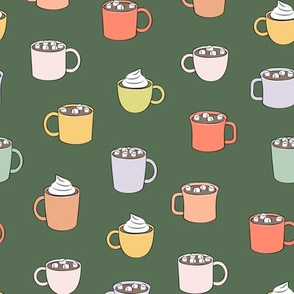 hot cocoa - hot chocolate - green - LAD19