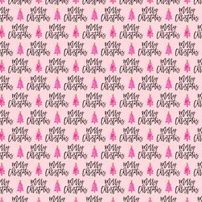 (micro scale) Merry Christmas - script tree on pink - LAD19BS