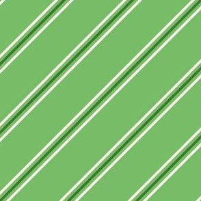 Candy cane green diagonal