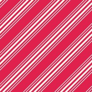 White and red candy cane stripes