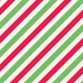 Green and red candy cane stripes