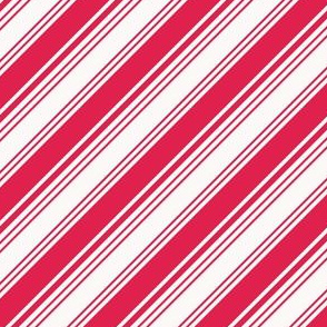 Red and white candy cane stripes