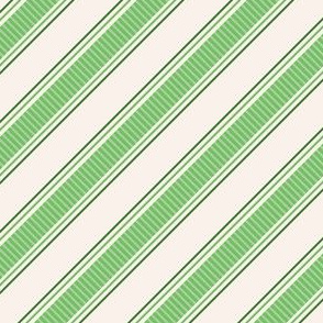 Candy cane stripes green