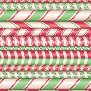 Assorted candy cane stripes