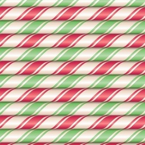 Red and green candy cane stripes