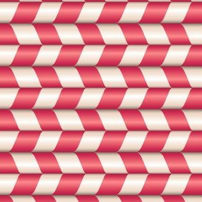 Candy cane red and white stripes