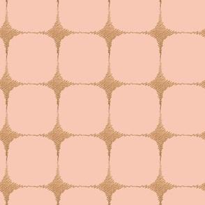 Mid century pink starburst grid