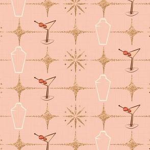 Mid century pink festive cocktails