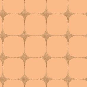 Blush mid century starburst grid