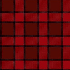 Red and black chequered
