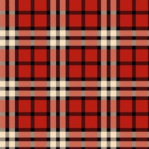 Red and black winter plaid
