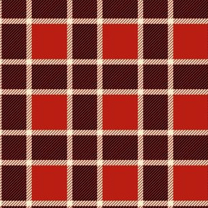 Red and black Christmas plaid