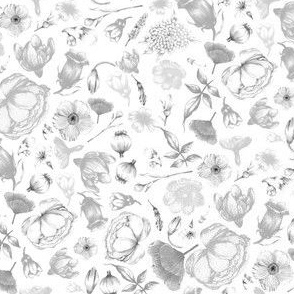 flowers  small grey