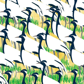 Damsels of the Sky- Flock of Demoiselle Cranes- Large scale