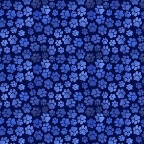Blue Pawprints - Small