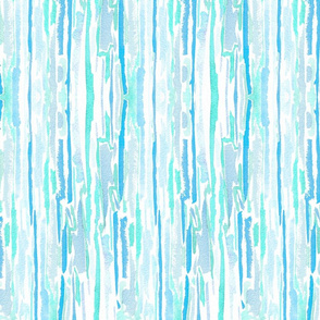 Watercolor Strokes Palm Beach - Blues & White