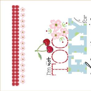 Not Too Fly sfR_by Tresa XOXOXOXOXO KITCHEN TEA TOWEL