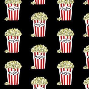VIP Movie Night / Theater Popcorn  on black  med -small