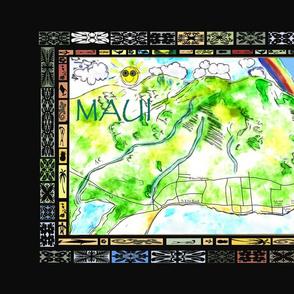 Hometown Map Kihei Maui Hawaii