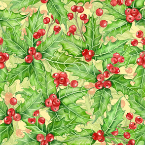 Holly berry watercolor 2