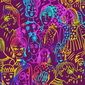 Neon Faces