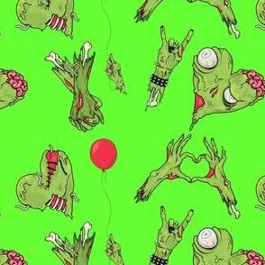 Zombie Hearts Green