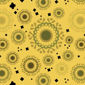 Autumnal doily - Yellow