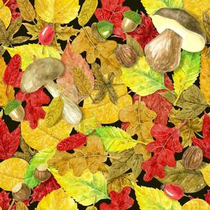 Watercolor autumn pattern