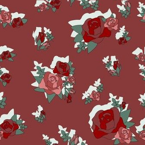 Roses in Burgundy with Shadow