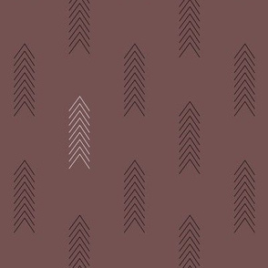 Black and White Arrows in Pale Maroon