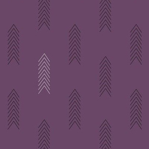 Black and White Arrows in Purple